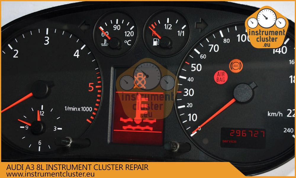Audi A3 8L instrument cluster repair   instrumentcluster eu