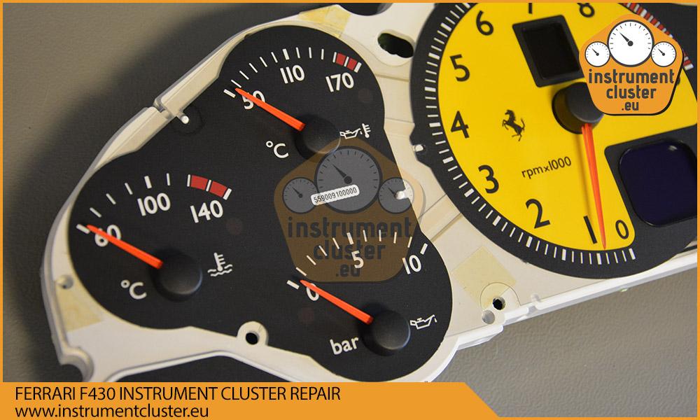 Ferrari F430 instrument cluster repair and mileage
