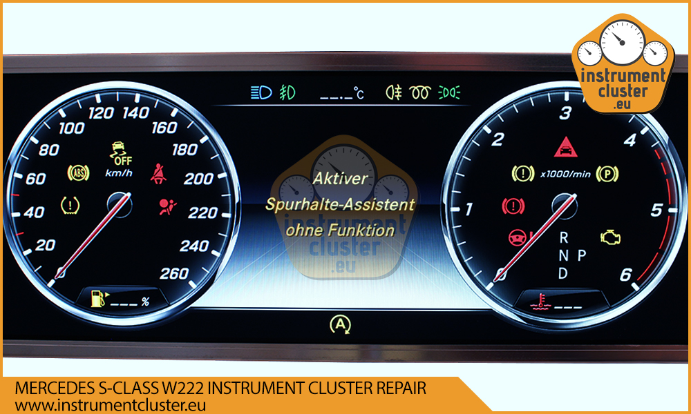 Mercedes W222 instrument cluster repair and programming