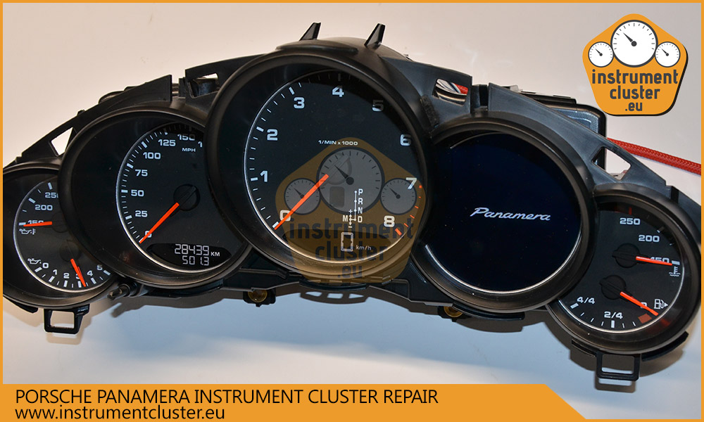 Porsche Panamera instrument cluster repair